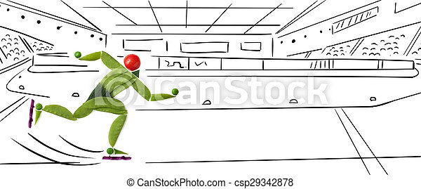 Speed ice skater. - csp29342878