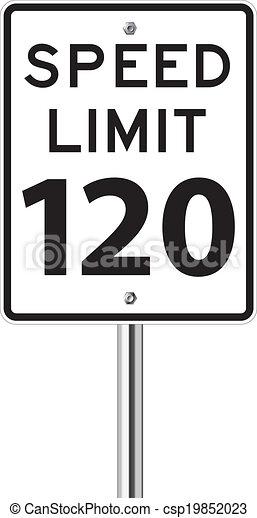 Speed limit 120 traffic sign - csp19852023