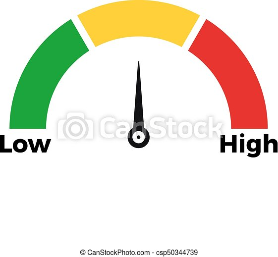 Speed meter scale icon. Speed metering icon vector illustration ...