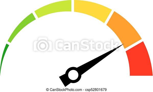 Speed meter vector icon illustration.