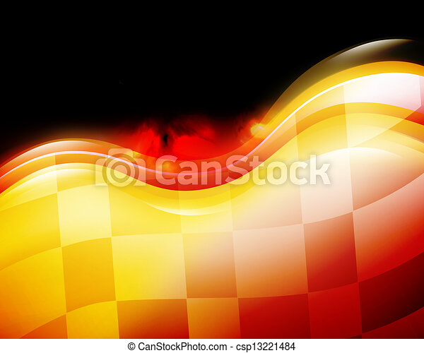 Speed Race Flag with Flames on Black - csp13221484