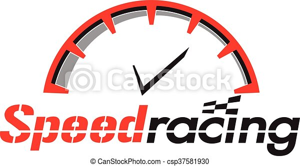 speed racing logo vector graphic design