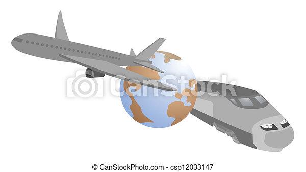 Speed travel around the world - csp12033147