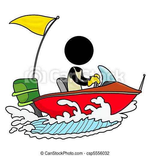 silhouette man on transportation icon speedboat driver clip art rh canstockphoto com
