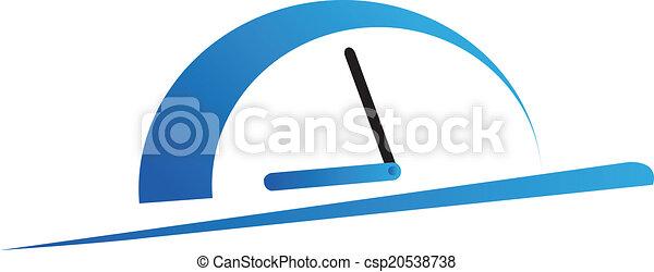 Speeding control vector logo - csp20538738
