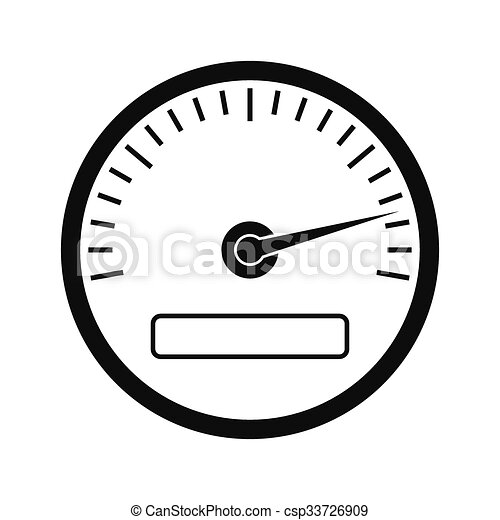 speedometer black simple icon isolated on white background vector rh canstockphoto com speedometer vector eps speedometer vector graphic