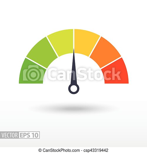 Speedometer flat icon  Sign colorful speedometer  Vector logo for web  design, mobile and infographics