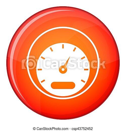 Speedometer icon, flat style - csp43752452