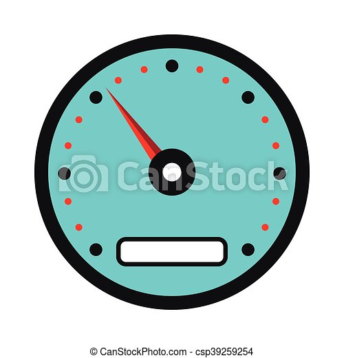 speedometer icon in flat style on a white background clipart vector rh canstockphoto com speedometer vector eps speedometer vector icon