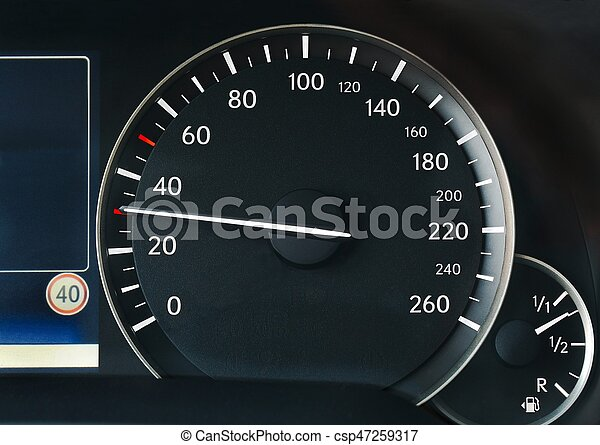Speedometer of a car - csp47259317