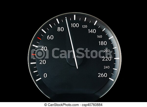 Speedometer of a car - csp40760884