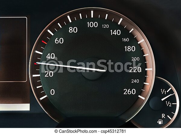 Speedometer of a car - csp45312781