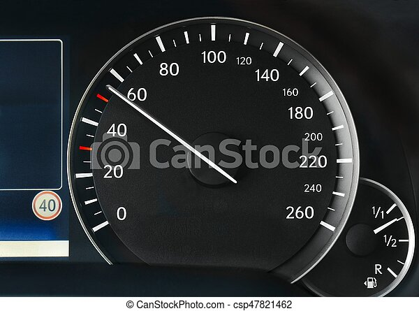 Speedometer of a car - csp47821462