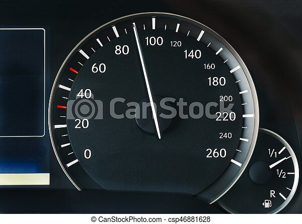 Speedometer of a car - csp46881628