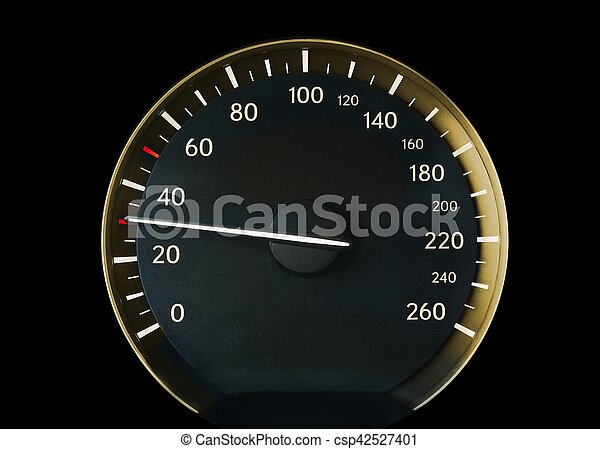 Speedometer of a car - csp42527401
