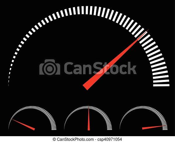 speedometer or generic meters gauges with red needle