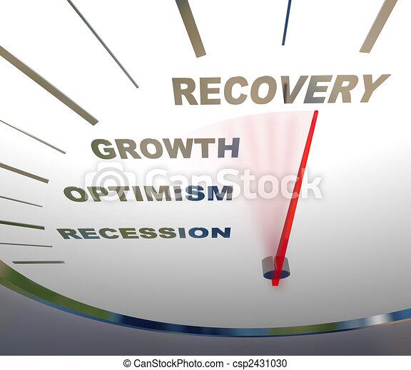 Speedometer - Recession Recovery - csp2431030