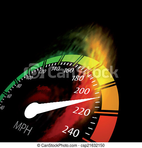 Speedometer with speed fire path - csp21632150