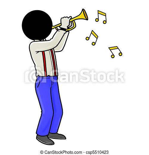 speler, trompet - csp5510423