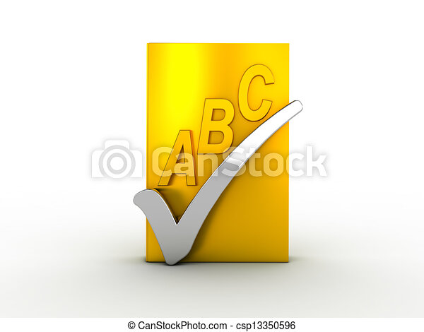 Spell check icon - csp13350596