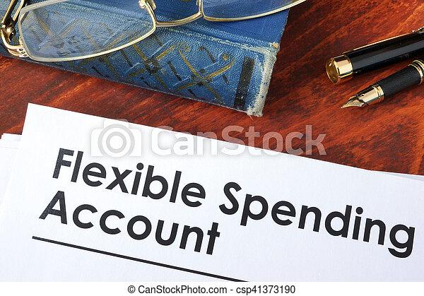 spendere, fsa, conto, flessibile, carte - csp41373190