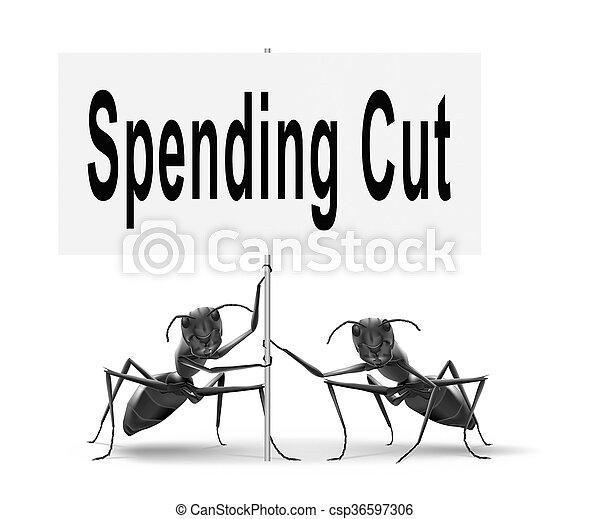 spending cuts - csp36597306