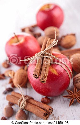 spezie, mela, rosso - csp21459128
