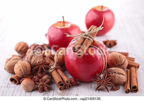 spezie, mela, rosso - csp21459129