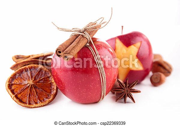spezie, mela, rosso - csp22369339