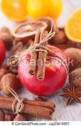 spezie, mela, rosso - csp23616907