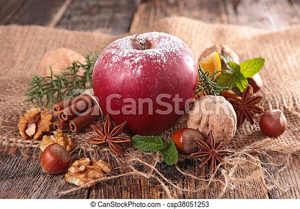 spezie, mela, rosso - csp38051253