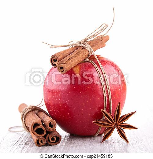 spezie, mela, rosso - csp21459185