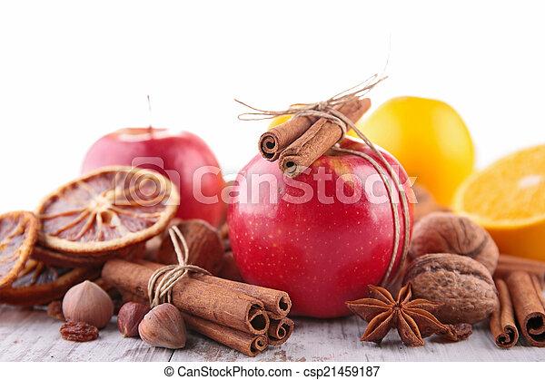 spezie, mela, rosso - csp21459187