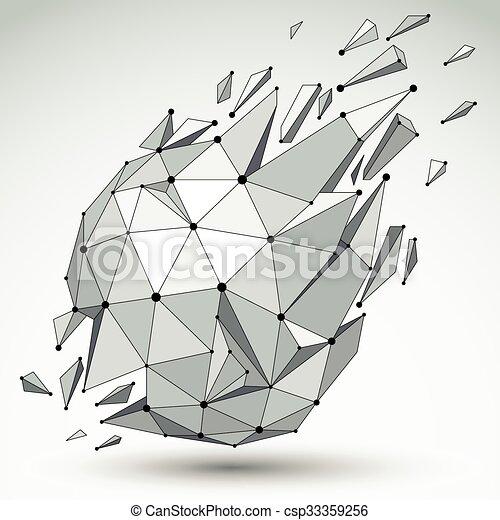 Extrem Clipart Vecteur de sphérique, brisé, objet, points, asymétrique  IN86