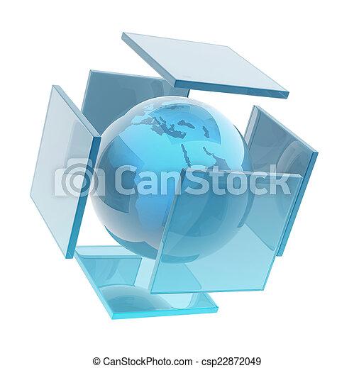 sphère, la terre, verre - csp22872049
