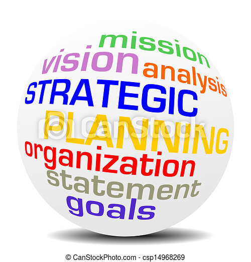 sphère, planification, mot, stratégique - csp14968269