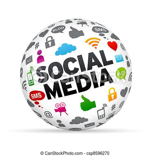 sphère, social, média - csp8596270