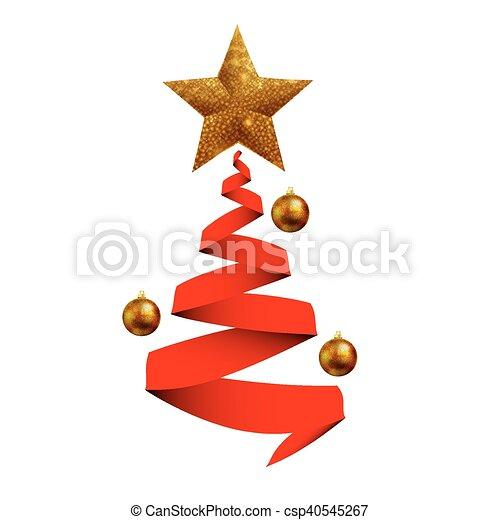 Sph rbol cintas navidad Arte illustration estrella