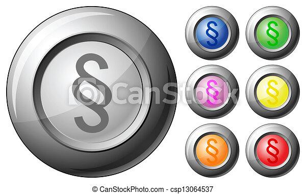 Sphere button paragraph - csp13064537