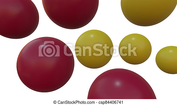sphere isolated white background. 3d render geometric shape - csp84406741