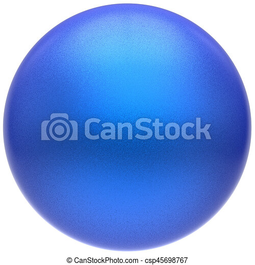 Sphere round blue button ball basic matted cyan circle badge - csp45698767