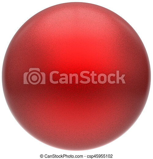 Sphere round button ball red basic matted circle geometric object - csp45955102