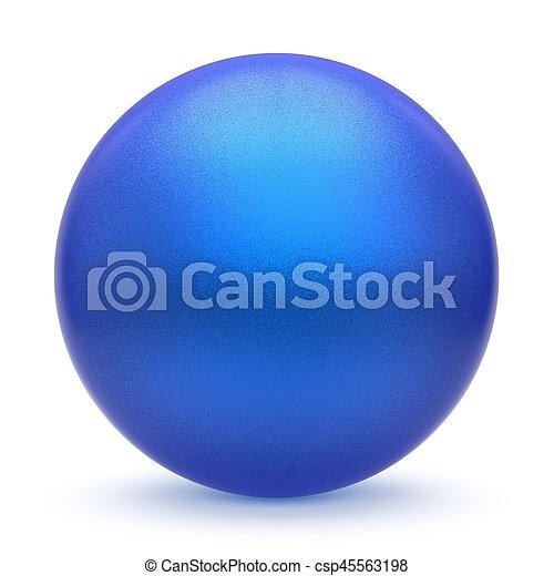Sphere round button blue matted ball basic circle cyan figure - csp45563198