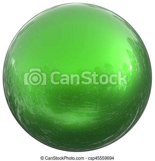 Sphere round button green ball basic circle geometric shape - csp45559694