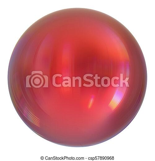 Sphere round button red, ball basic, circle geometric shape - csp57890968