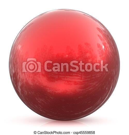 Sphere round button red ball basic circle geometric shape - csp45559858