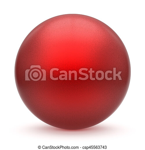 Sphere round button red matted ball basic circle geometric figure - csp45563743