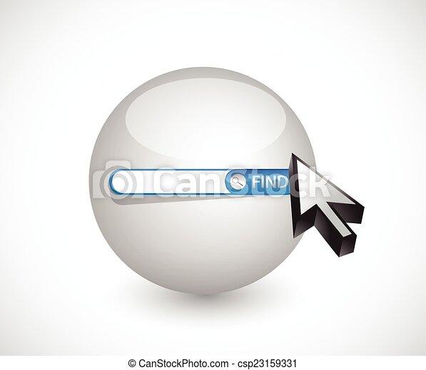 sphere search bar illustration design - csp23159331