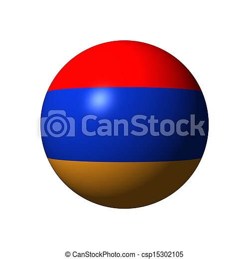 Sphere with flag of Armenia - csp15302105