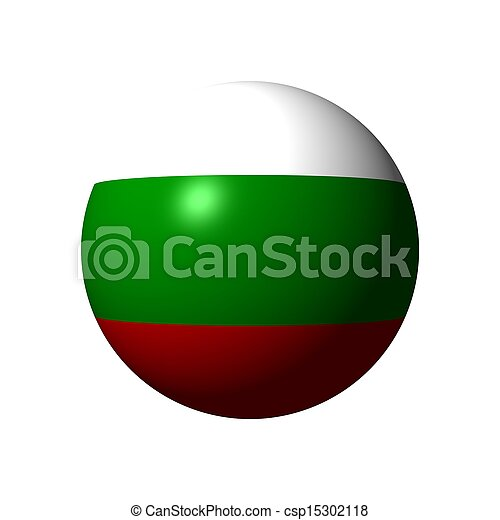 Sphere with flag of Bulgaria - csp15302118